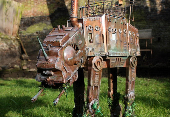 Steampunk-ATAT-and-ATST-Walkers