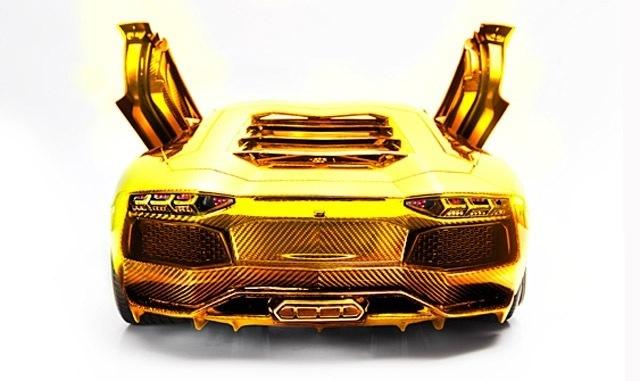 The Golden Lamborghini Aventador