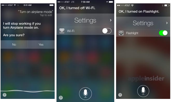 Siri on iOS 7