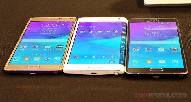 Note Edge and Note 4
