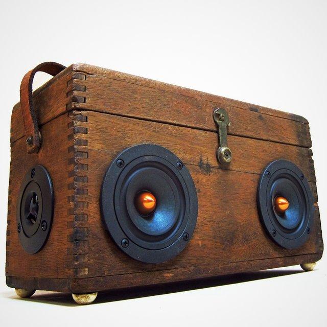 vintage wood prospector boomcase