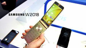Samsung W2018 flip phone specs
