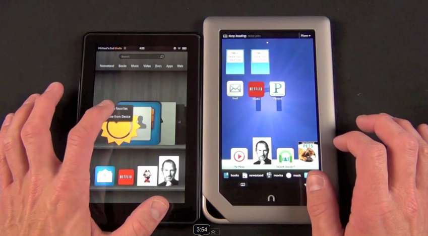 , If we look at prices kindle fire tablet is better than the nook and