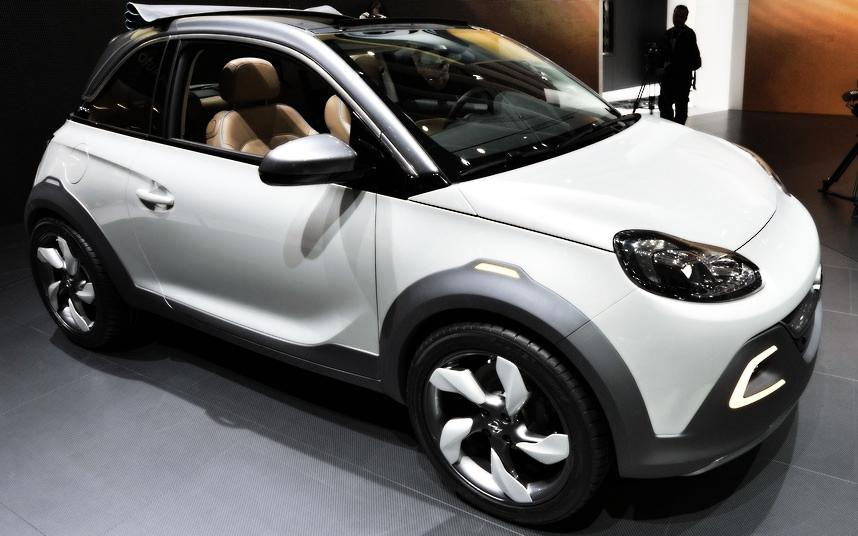 Cars Geneva Car Show 2013 Opel Adam Rocks