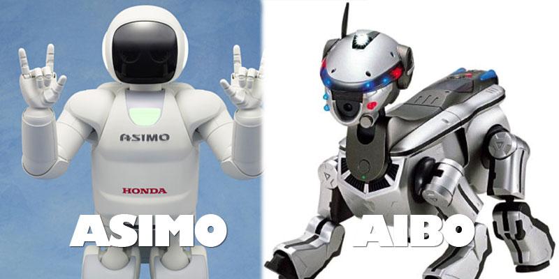 asimo-aibo-robots