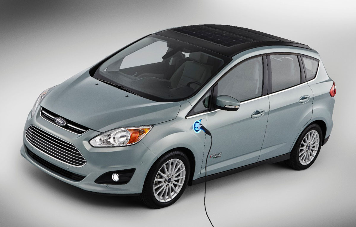 The Ford's C-Max Solar Energi concept car promises free rides