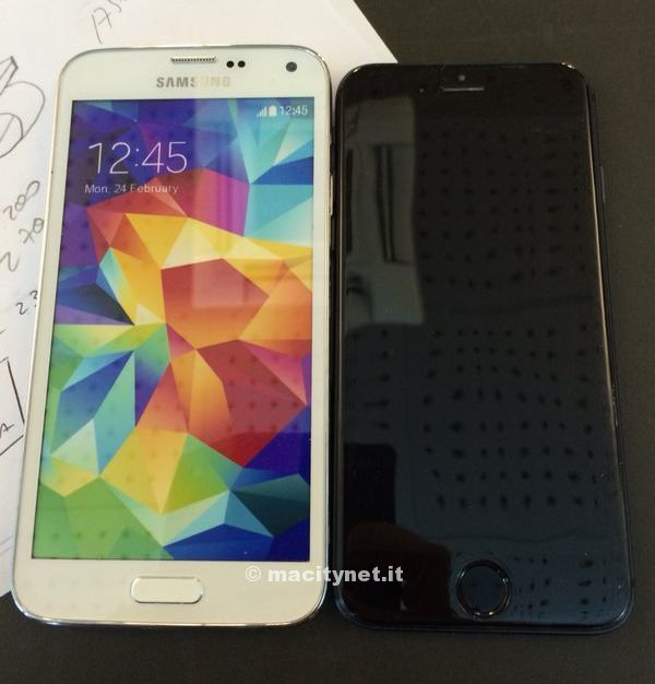 iPhone 6 vs Galaxy S5 comparison